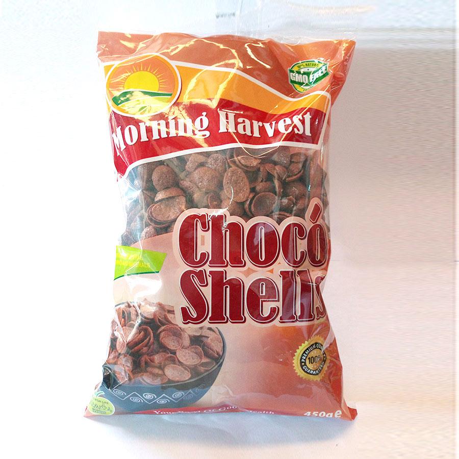 M/Harvest Choco Sea Shells 450Gm Vpack